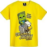 Minecraft Camiseta Niño, Ropa Niño Algodón 100%, Camisetas de Manga Corta con Diseño Chicken Jockey, Merchandising…