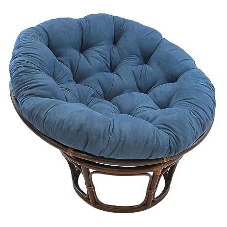 Blazing Needles Solid Microsuede Papasan Chair Cushion, 44u0026quot; X 6u0026quot;  ...