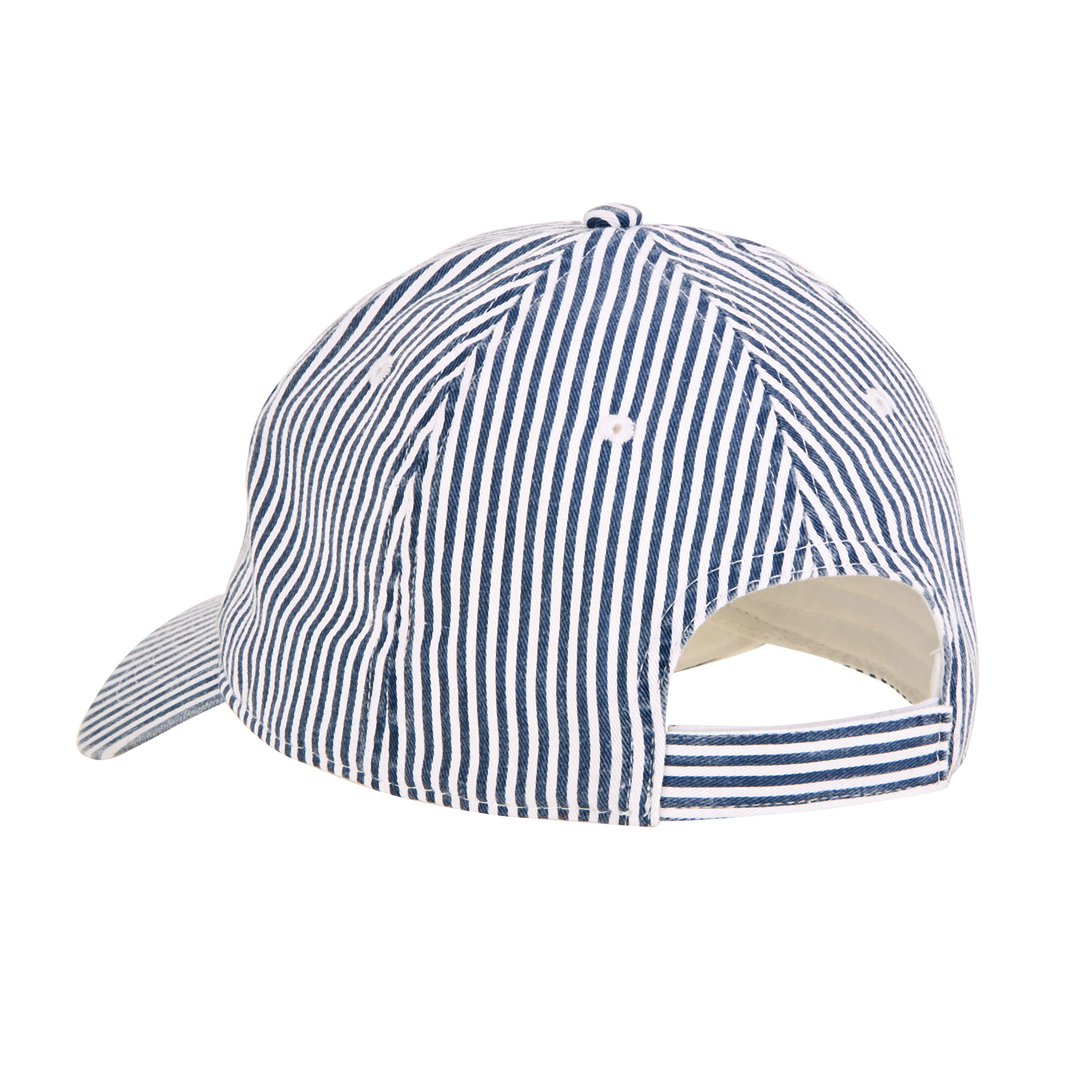 C3 Store Pair of Women's Golf caps, Sea Grean & Blue/White Stripe
