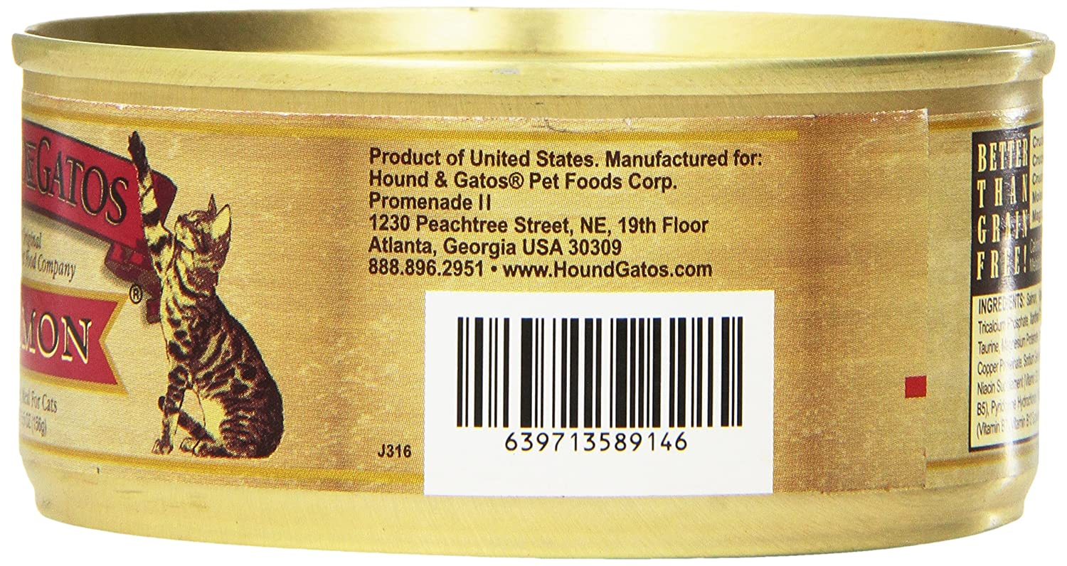 Amazon.com : Hound & Gatos Lamb Formula Canned Cat Food (Case Of 24, 5.5 Ounce Cans) : Canned Wet Pet Food : Pet Supplies