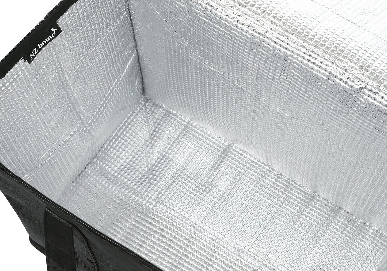 pliable solide fermeture /Éclair tient debout Extra grande taille Lot de 2/isotherme Sac /à provisions r/éutilisable