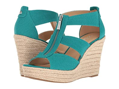 983559732d2 Image Unavailable. Image not available for. Color  Michael Michael Kors  Damita Wedge Tile Blue Shoes 9.5