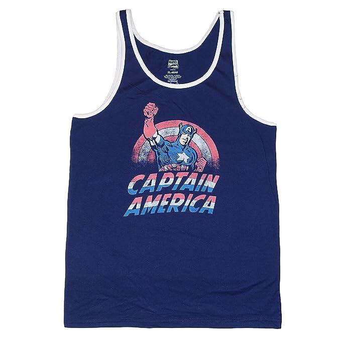 5940550ca60d0 Amazon.com  Marvel Comics Captain America Mens Tank Top  Clothing