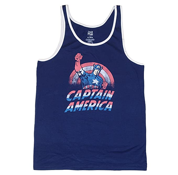 fdc321e8b7cca5 Amazon.com  Marvel Comics Captain America Mens Tank Top  Clothing
