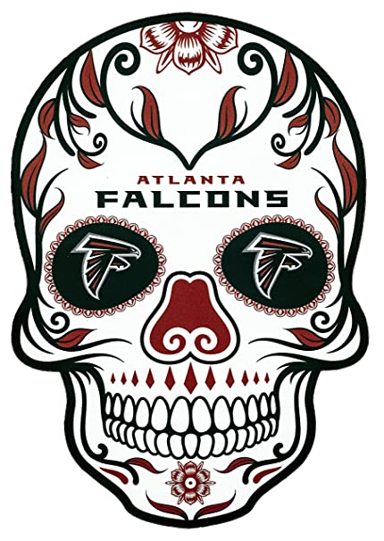 dd7c0fad Applied Icon NFL Atlanta Falcons Outdoor Small Dia De Los Muertos Skull  Decal