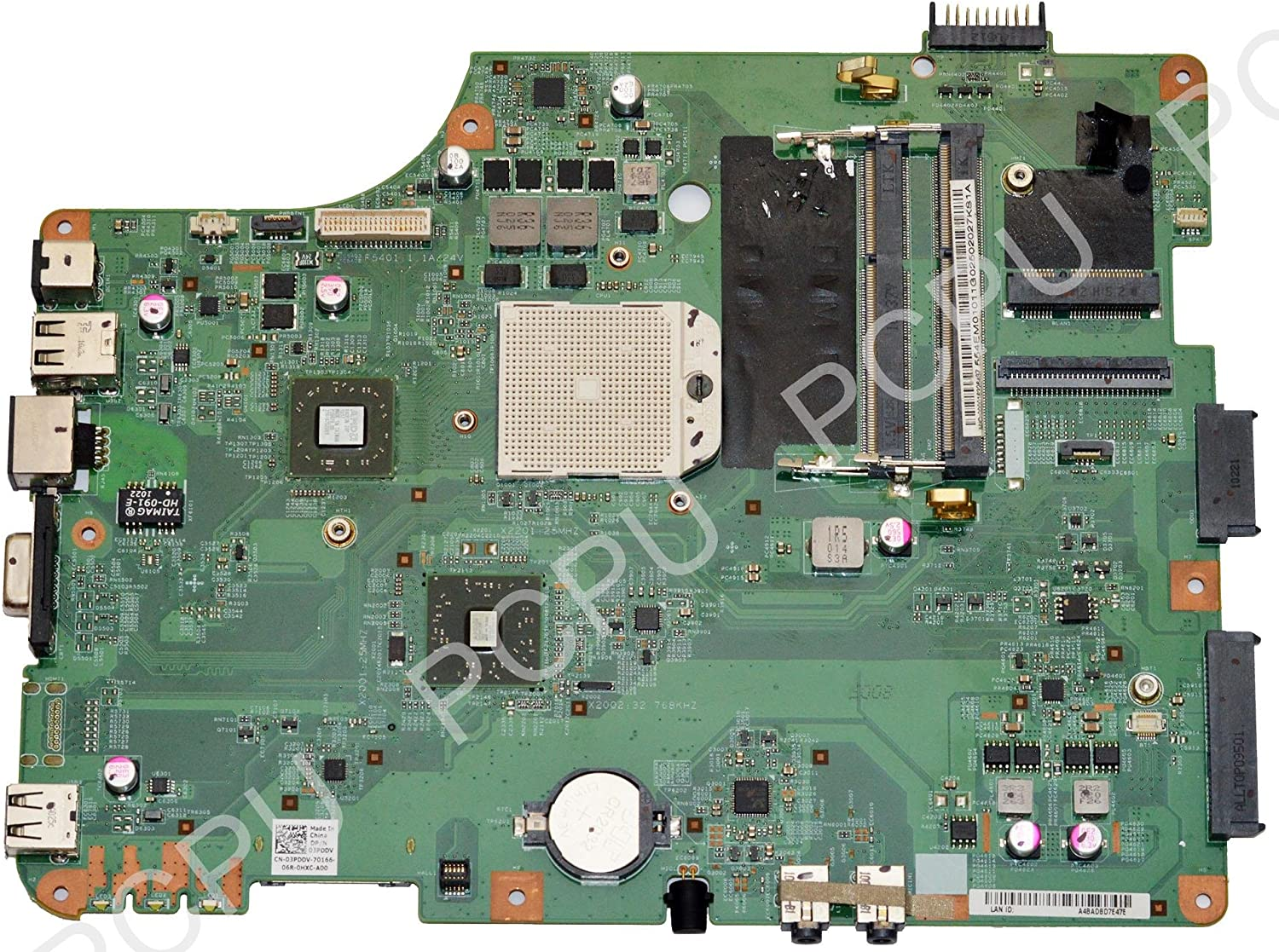 3PDDV Dell Inspiron M5030 AMD Laptop Motherboard s1
