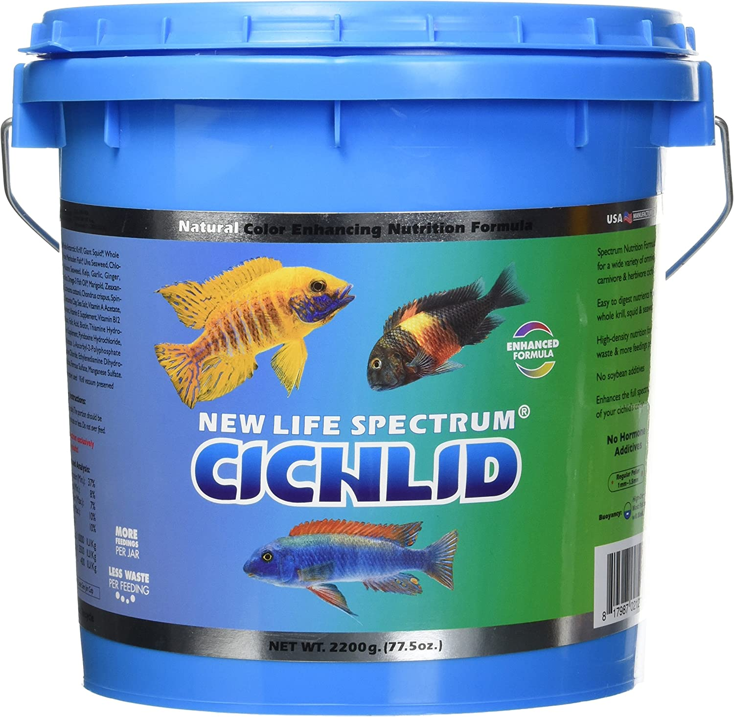 New Life Spectrum Naturox Series Cichlid Formula Supplement, 2200g