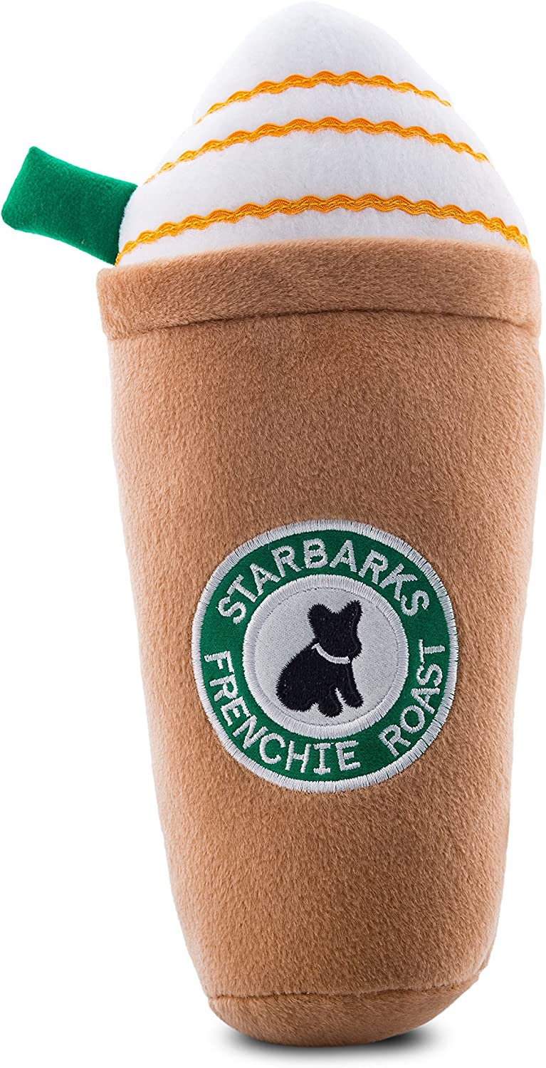 Haute Diggity Dog Starbarks Coffee Collection   Unique Squeaky Parody Plush Dog Toys – Canine Caffeine Your Dog Can Handle!