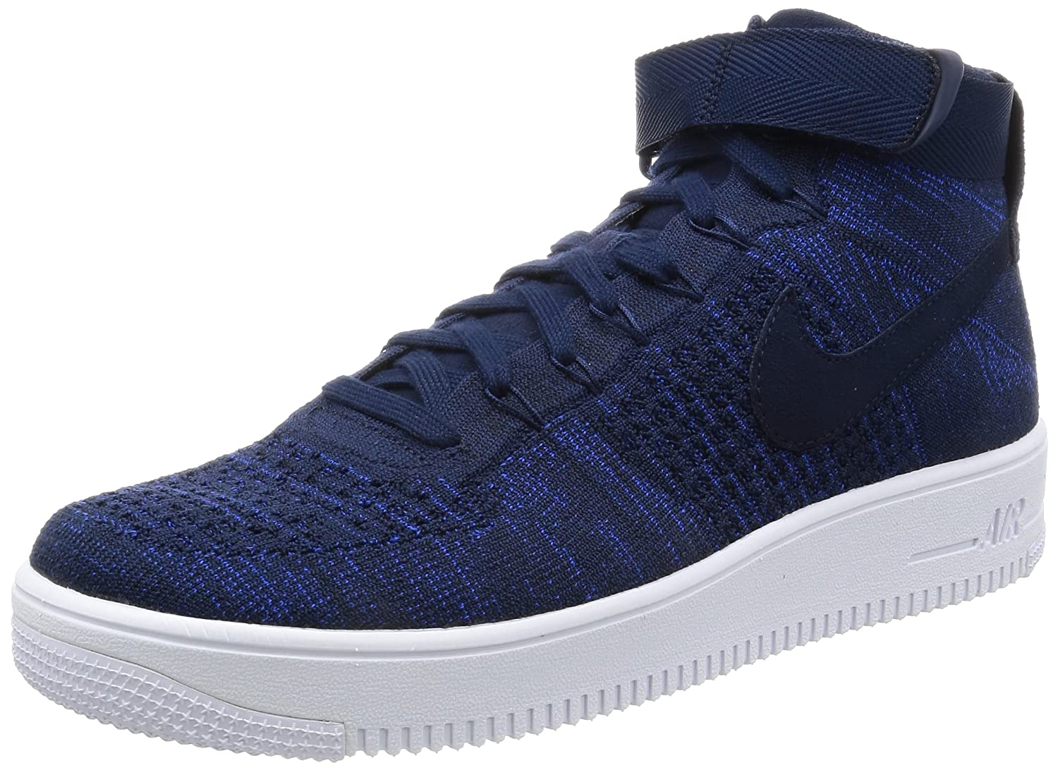 Nike Air Force 1 Ultra Flyknit Sneaker Turnschuhe Schuhe fuuml;r Herren  47.5 EU|Dunkelblau (College Navy/Black/White)