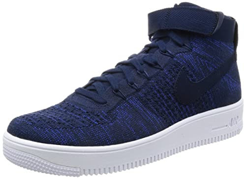 Nike Men's Air Force 1 Ultra Flyknit Mid College NavyCollege Navy 817420 401 Shoe