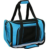 "Mr. Peanut's Airline Approved Soft Sided Pet Carrier, 17.5X11X11 Travel Tote with Soft Padded Bedding with Strong 1/4"" Wood Base, Seatbelt & Luggage Attachment, Perfect for Cats and Small Dogs"