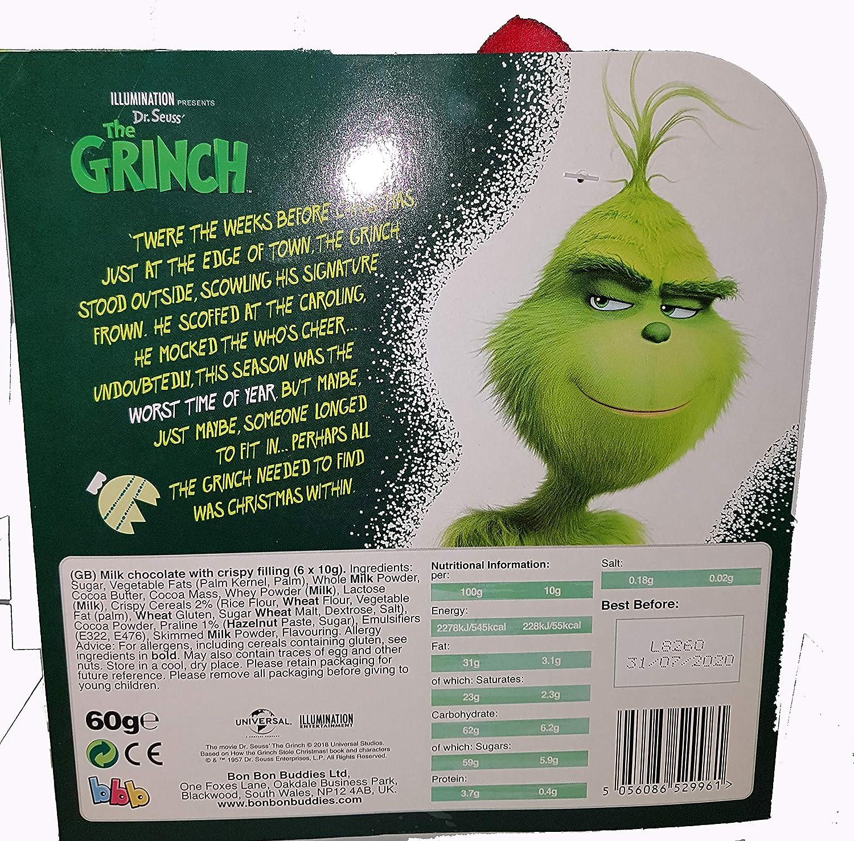 Soft Toy Gift Grinch Soft Toy With Bon Bon Buddies Milk Chocolate