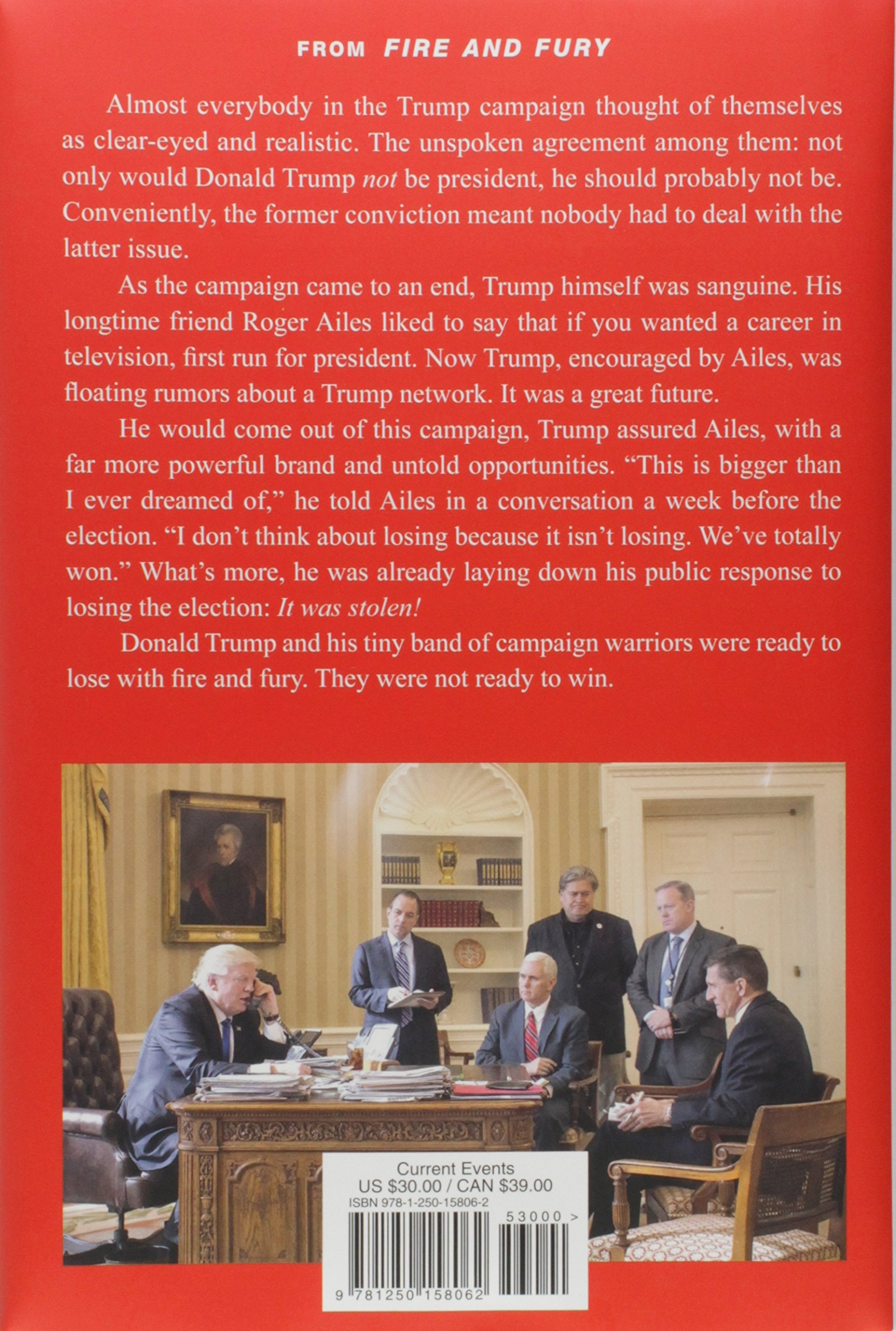 Fire and Fury: Inside the Trump White House: Michael Wolff: 9781250158062:  Amazon.com: Books