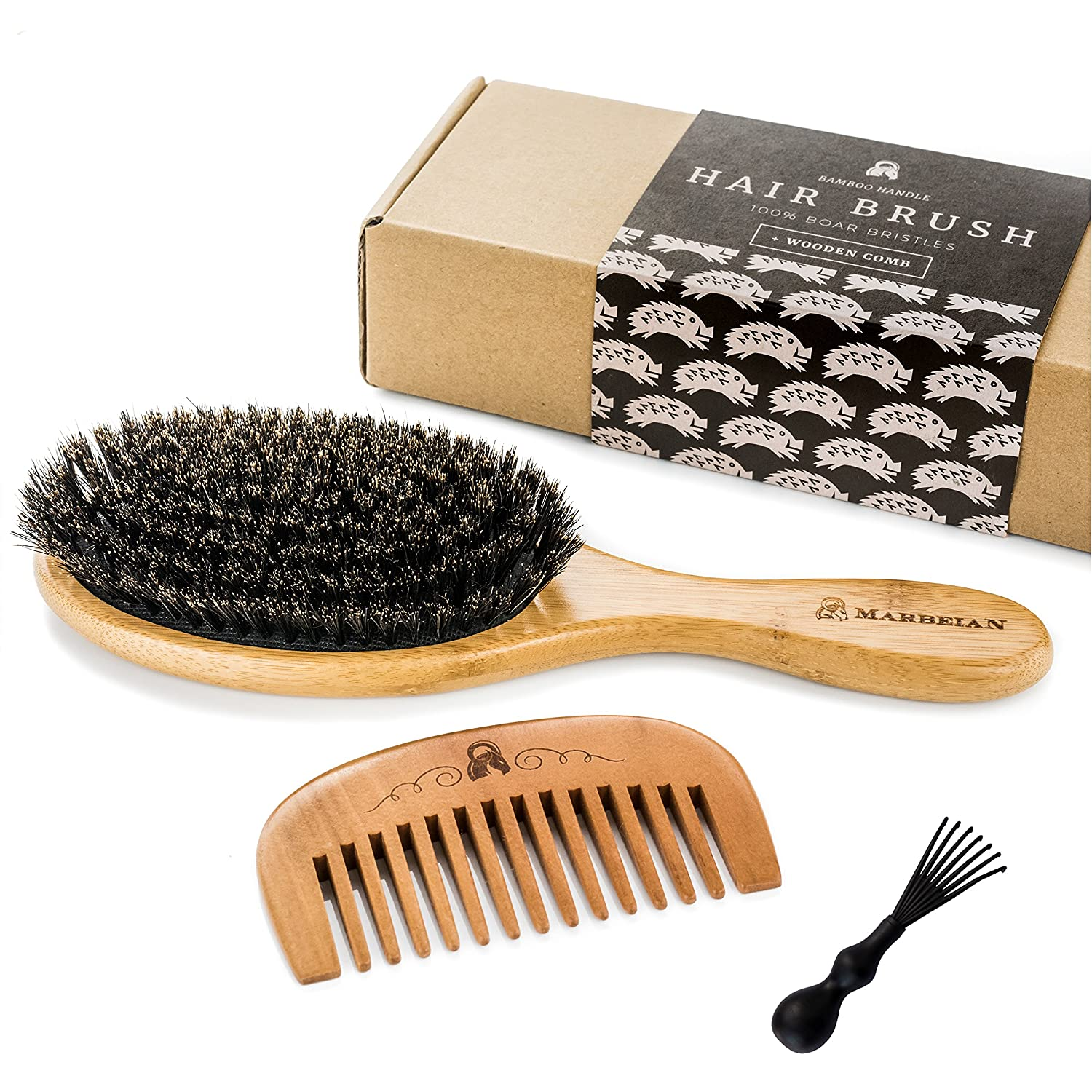 100% Boar Hair Brush Marbeian