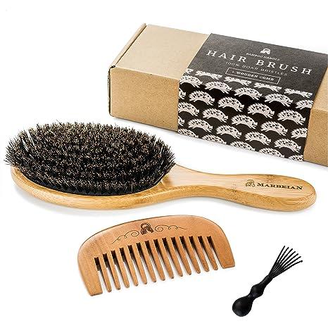 Cepillo de cerdas de pelo de jabalí, para conseguir un acondicionamiento natural del pelo