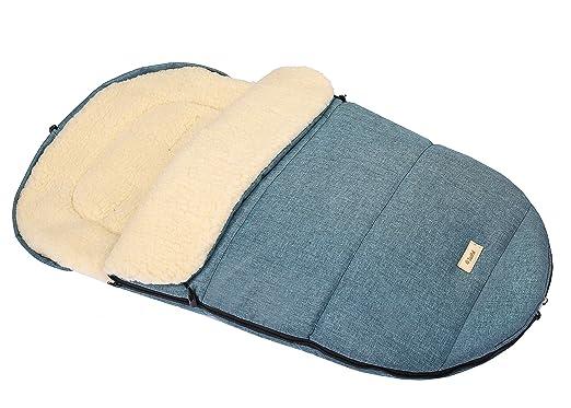 Winterfuẞsack Kinderwagen Sack Kinderfuẞsack Fuẞsack Wolle Schlitten 90 X 50 Cm Blau Baby
