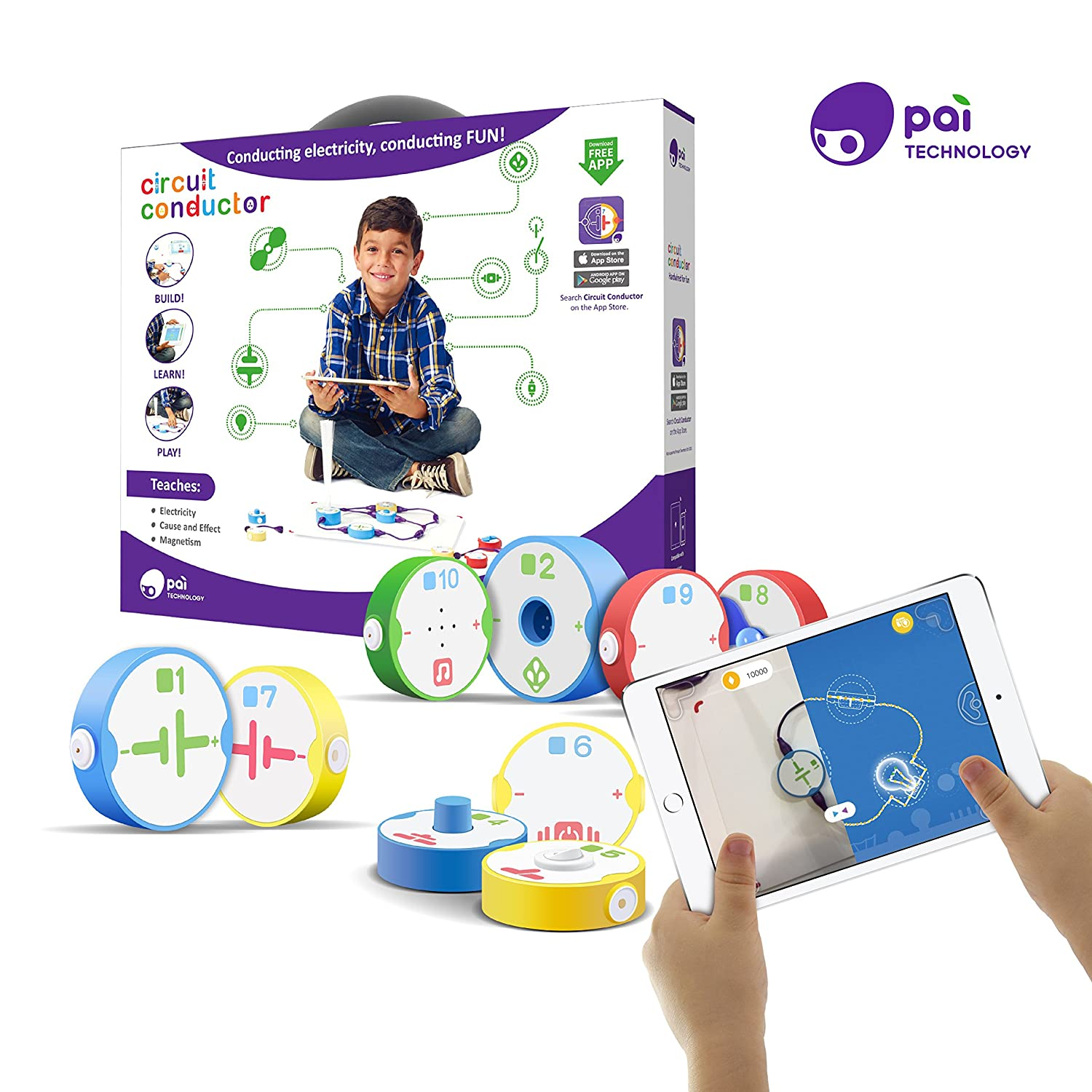 Pai Technology Circuit Conductor Electricity Learning Parallel Definition For Kids Series Circuits Kit With Free App Toys Games