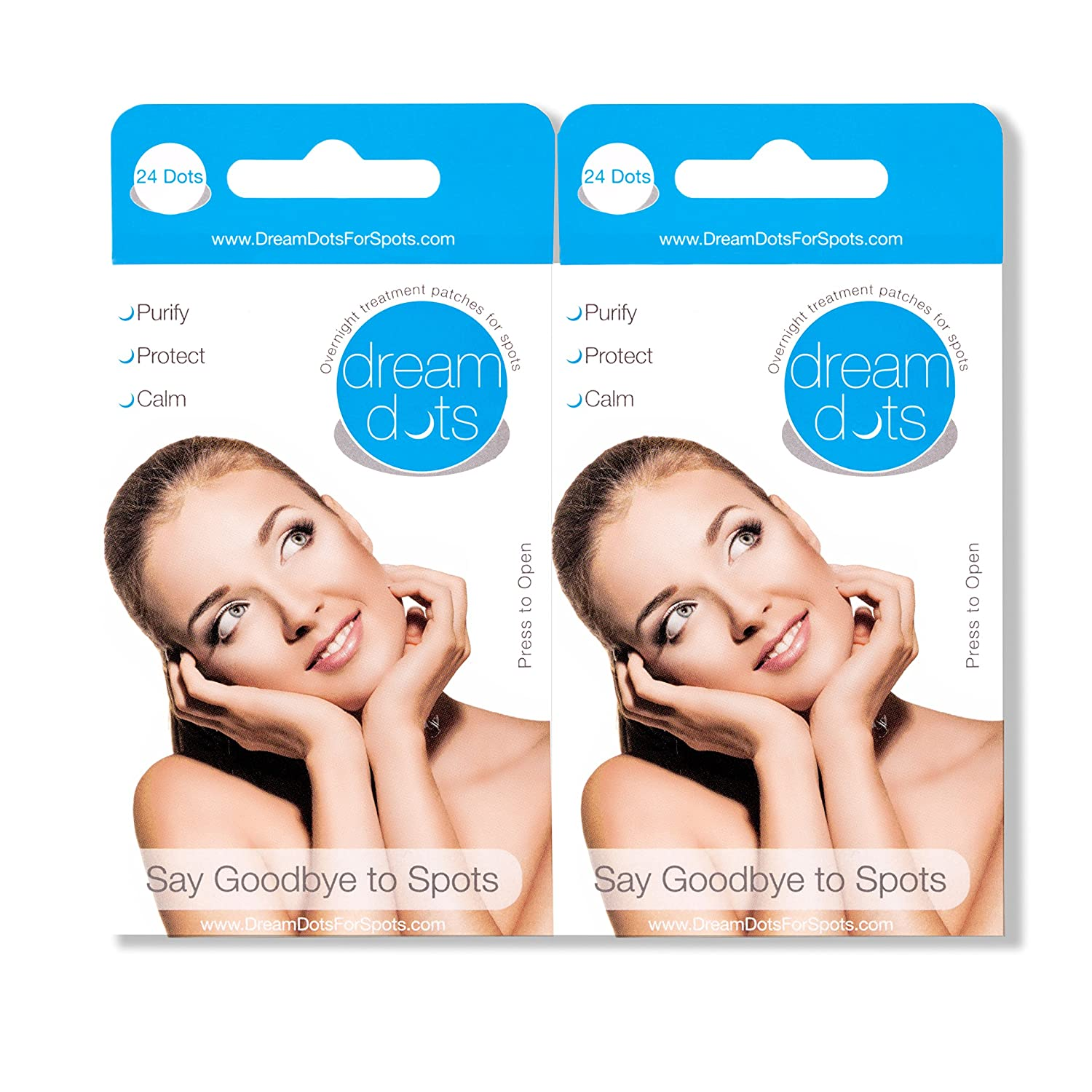 Dream Dots for Spots - Overnight Acne Skin Treatment Patch (Traitement De L'Acné) 2 Boxes (48 Patches) Dream Care Products Ltd DD002