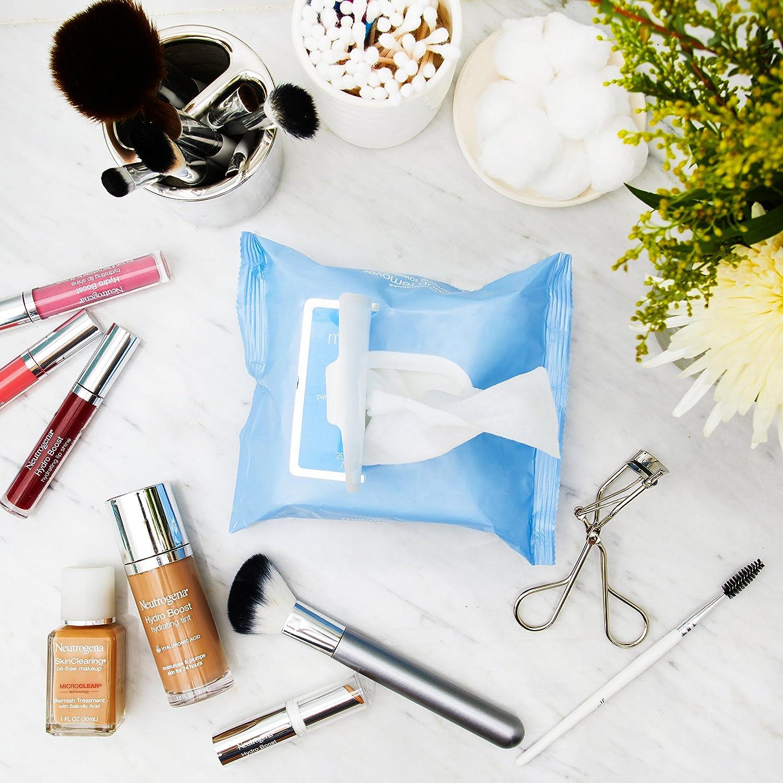 Toallitas de limpieza para quitar maquillaje, toallitas 25 prehumedecida - Neutrogena: Amazon.es: Salud y cuidado personal