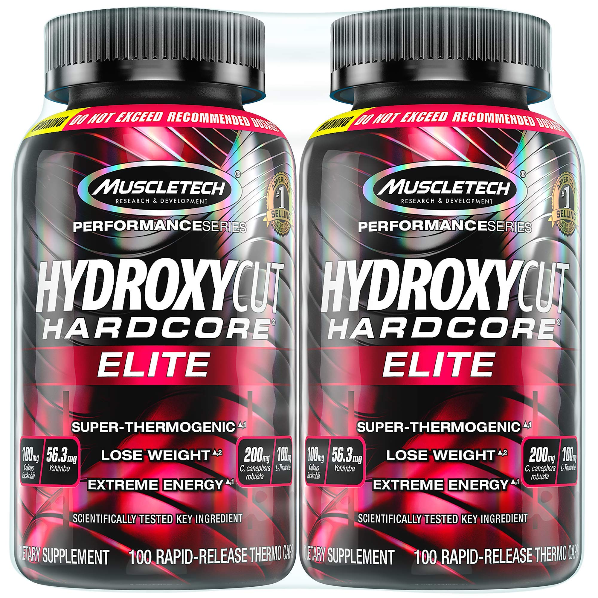 Hydroxycut Hardcore Elite Weight Loss Supplement, Designed for Hardcore Weight Loss, Energy & Enhanced Focus, 100 Servings (200 Pills) by Hydroxycut