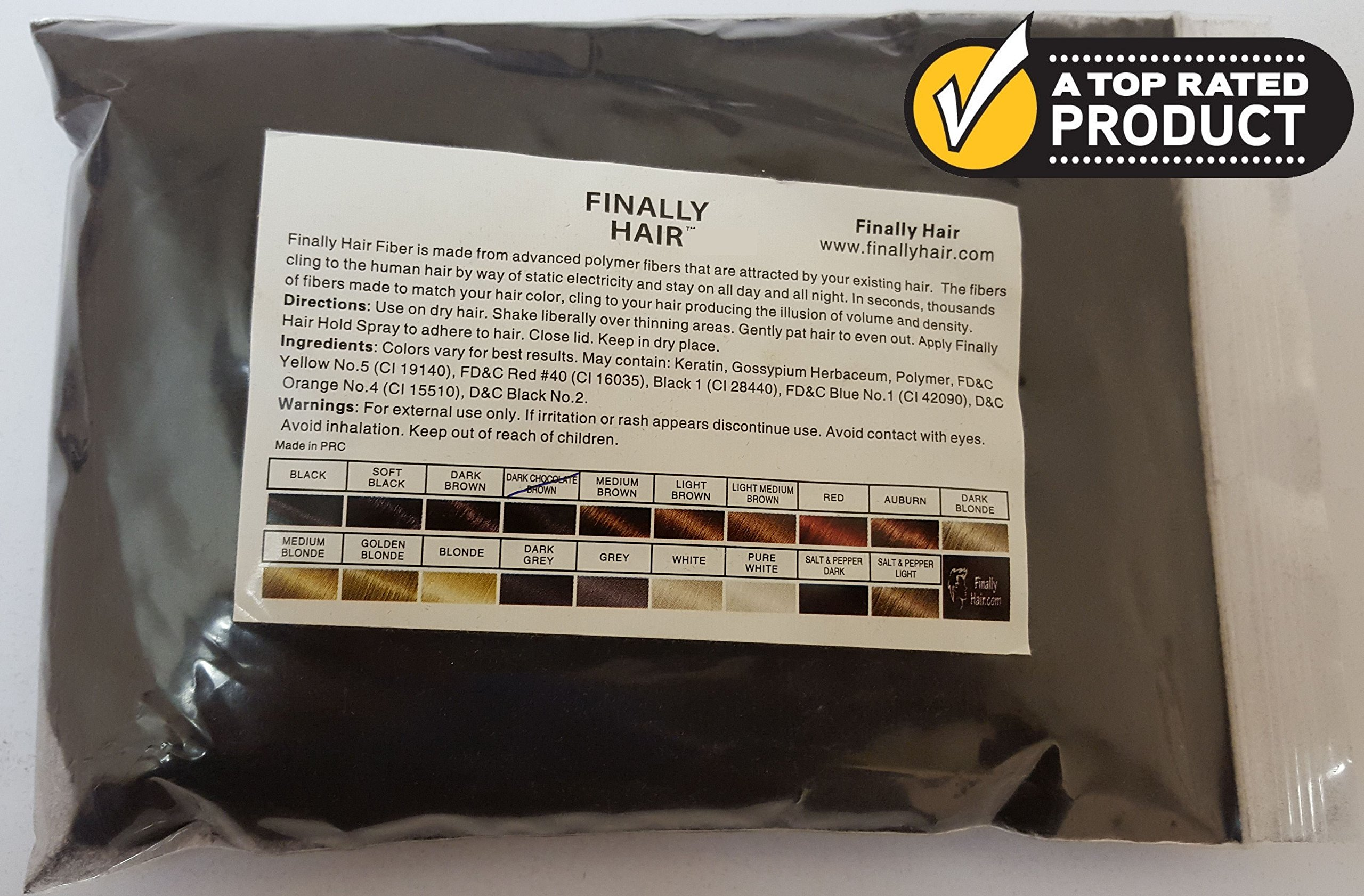 New Hair Building Fibers 100+14=114 Grams. Highest Grade Refill That You Can Use for Your Bottles From Competitors Like Toppik, Xfusion, Efficient (Dark Chocolate Brown)