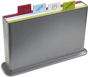 Joseph Joseph Index Advance Chopping Board Set, Silver, Small