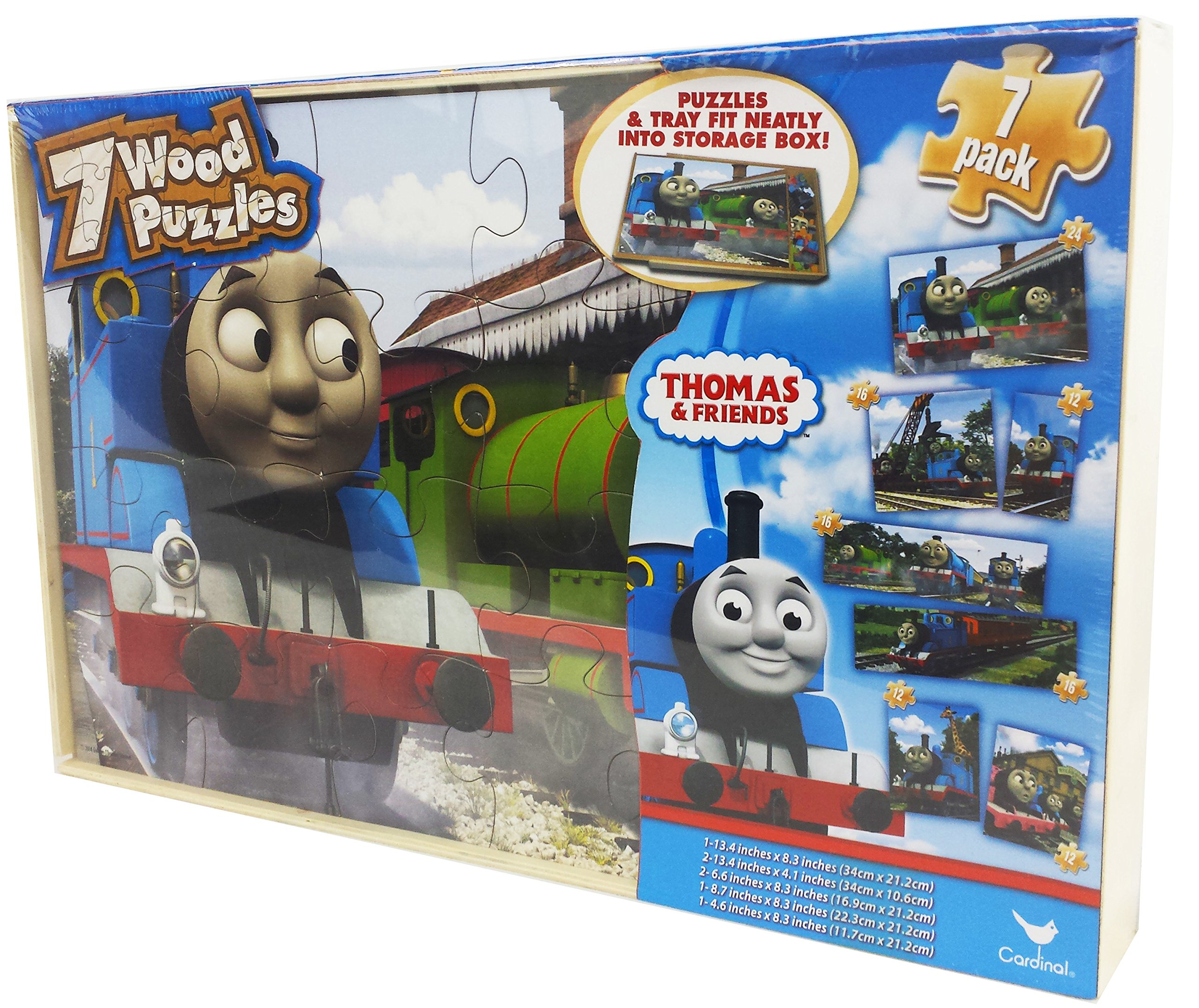 Thomas The Tank Engine 7 Pack Wood Puzzles by Cardinal