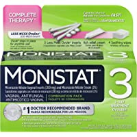 Monistat 3-Day Vaginal Antifungal | Complete Therapy | 3-Day Treatment Ovules