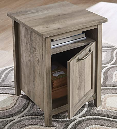 Better Homes Gardens Modern Farmhouse Side Table with USB, Rustic Gray Finish
