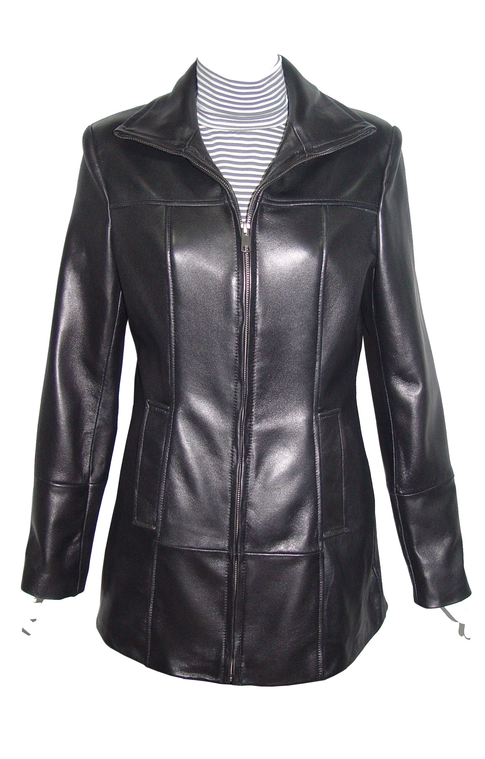 Nettailor 4180 Fitted Best Clean Cool Leather Long Jackets Womens Clothing