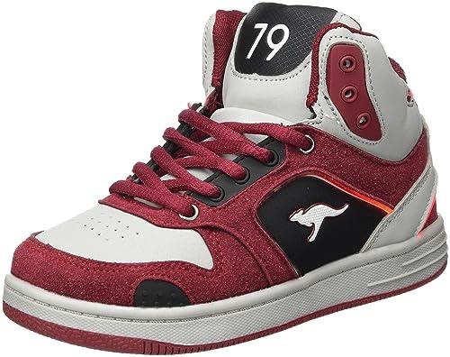 Kangaroos K-Baskled II, Zapatillas Unisex Niños, Rot (Velvet Red/Vapor Grey), 29 EU
