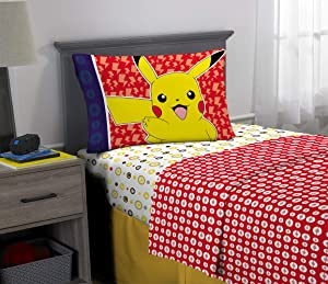 Franco Kids Bedding Super Soft Sheet Set, 3 Piece Twin Size, Pokemon