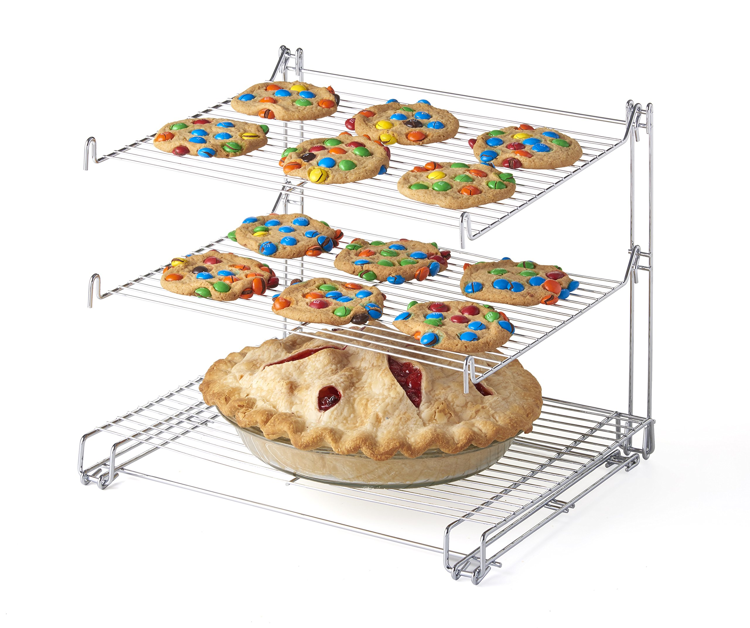 KOVOT 3-Tier Cooling Rack (Chrome) | Space Saving Vertical Design
