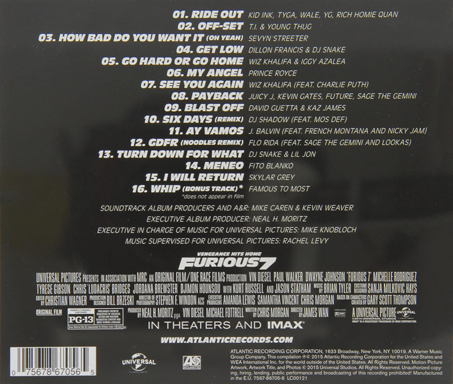 fast and furious 7 music download mp3