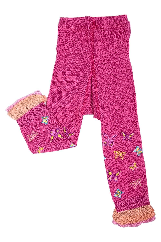 Weri Spezials Capri Leggings con Balze per Neonati e Bambini, Colore:Rosa caldo, Taglia: 56-80 cm (0-12 mesi)