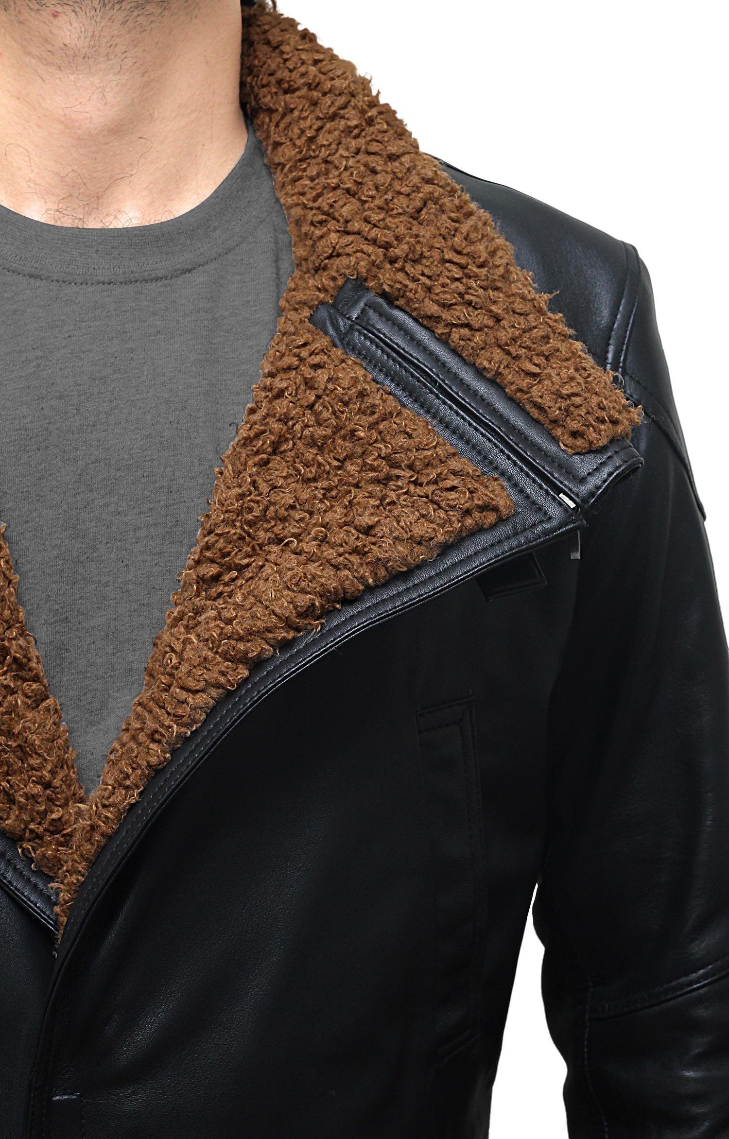 BlingSoul Blade Fur Coat Men Costume - Boys Black Leather Coat (XL) [PU-BLRN-BL-XL] by BlingSoul (Image #5)