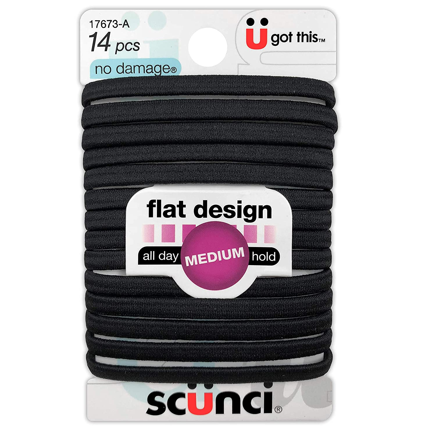SCUNCI HAIR ELASTICS COMPARE TO GOODY 16 total!! PONYTAIL HOLDER 2 packs