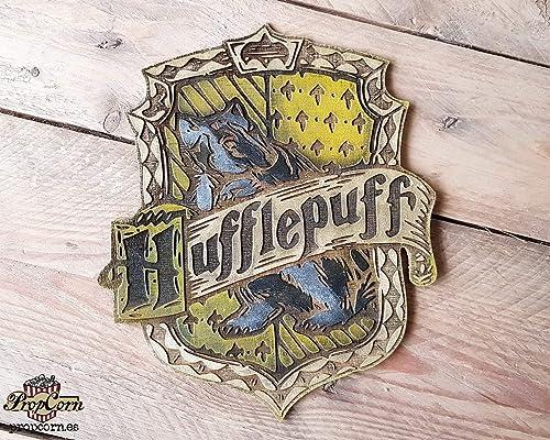 Cartel Casa Hufflepuff hecho en madera, pintado y envejecido ...