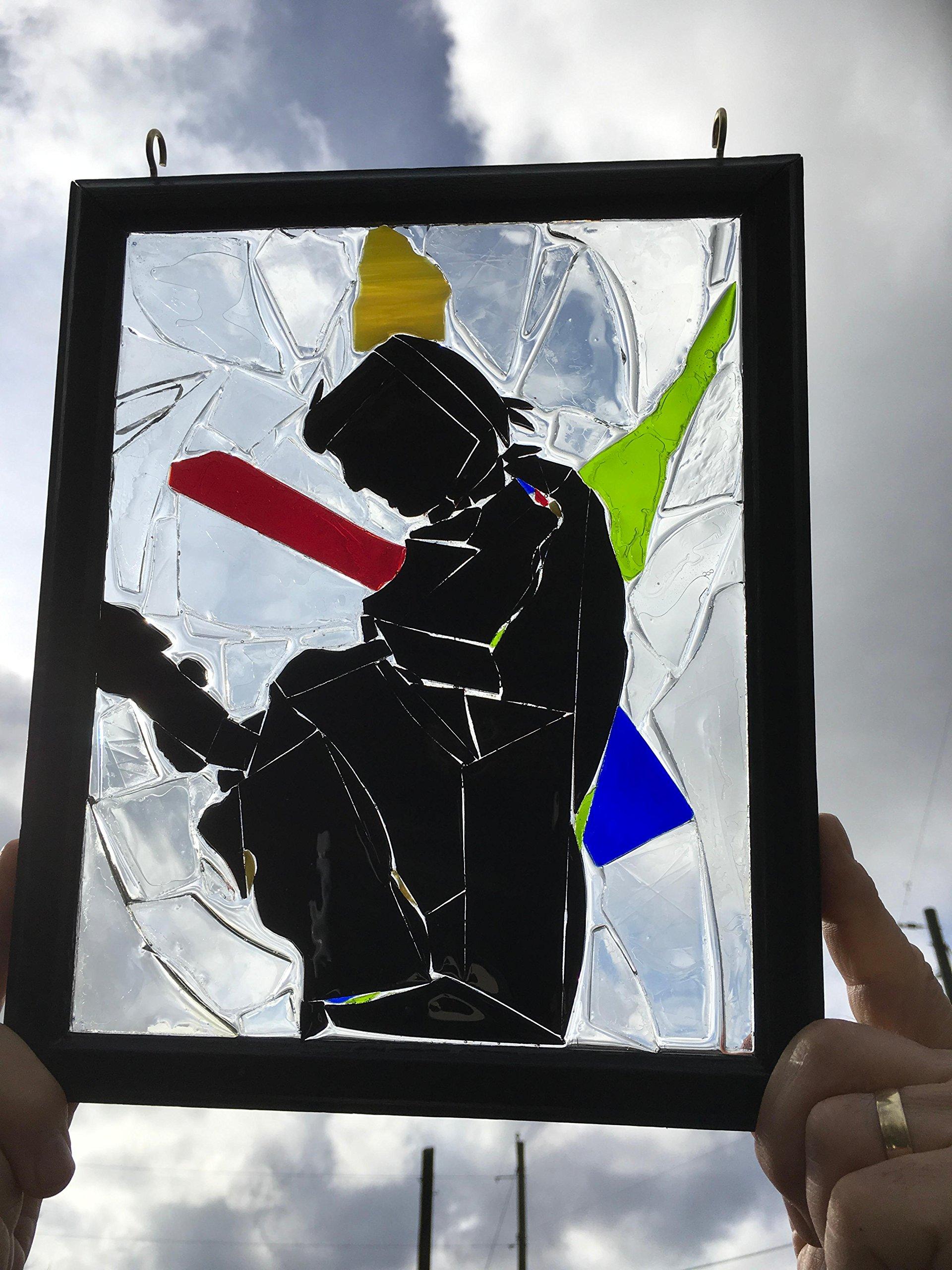Johnny Cash Stained Glass Window Art Suncatcher