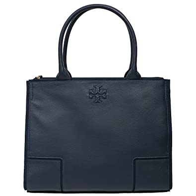 8f464168bab Amazon.com  Tory Burch Ella LARGE Canvas Tote Handbag NAVY 2217  Shoes