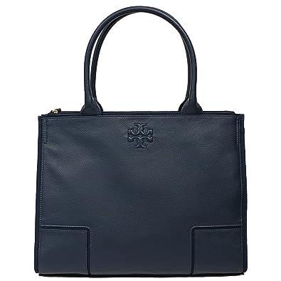 11ef6a3f892 Amazon.com: Tory Burch Ella LARGE Canvas Tote Handbag NAVY 2217: Shoes