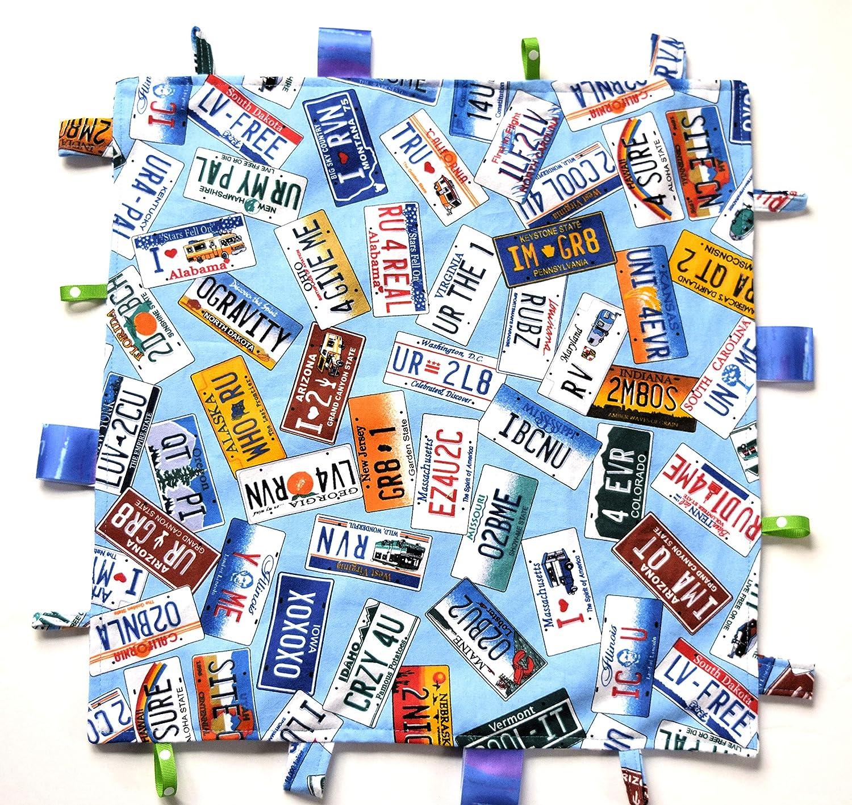 Vanity License Plates Baby Comfy Blanket, Mini Blanket,Blue Flannel