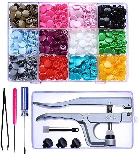 Nähfreie Druckknöpfe Color Snaps Werkzeug-Set Kam snap