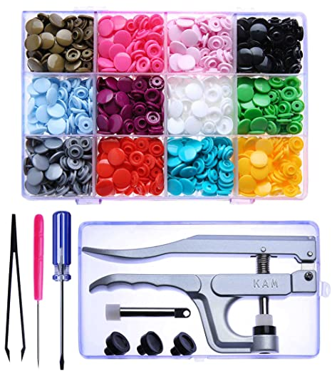 Amazon.com: KAM Snaps Starter Kit - 300 Set Snaps for Clothing with KAM Pliers