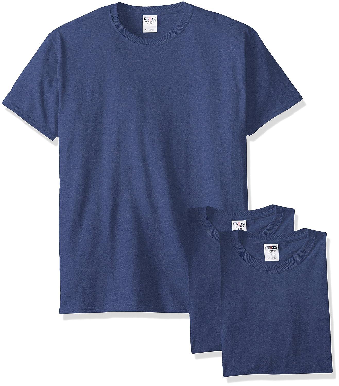 Jerzees メンズ 大人用 半袖Tシャツ(3枚組) B00T7UB3G4 4L Vintage Heather Blue Vintage Heather Blue 4L