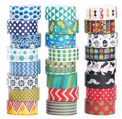 Amazon Com 24 Rolls Washi Masking Tape Set Decorative Craft Tape