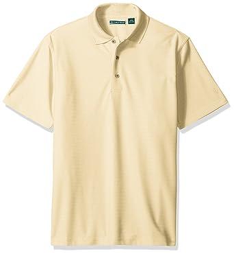 5f1fea1d0 Cubavera Men's Short Sleeve Herringbone Performance Polo Shirt, Banana  Crepe, Small