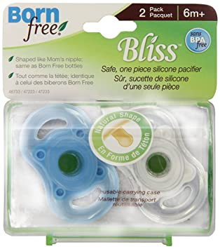 Amazon.com: Born Free, sin BPA) Bliss forma natural Chupete ...
