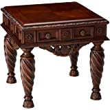 Ashley Furniture Signature Design   North Shore End Table   Square   Dark  Brown