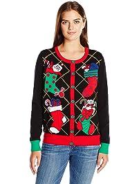 4c2c4c41ab686 Ugly Christmas Sweater Company Women s Xmas Stockings Cardigan Sweater